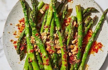 French Lentils with Asparagus and Shallots
